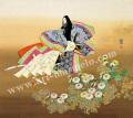 東聖観「一枝の菊」源氏物語色紙