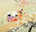 東聖観「紅梅に寄せて」源氏物語色紙