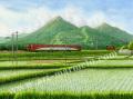 松本忠の版画「夏が生まれる場所へ」