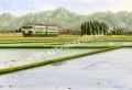 松本忠の版画「空を映して」