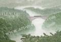 松本忠の版画「大河の鼓動」