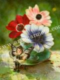 横田美晴の版画「A-Anemone」