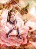横田美晴の版画「C-Camellia」