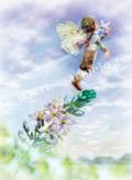 横田美晴の版画「H-Wild Hyacinth」