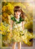 横田美晴の版画「M-Mimosa」