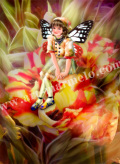 横田美晴の版画「T-Tulip」