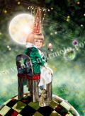 横田美晴の版画「A melancholy king」