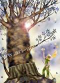 横田美晴の版画「Baobab」
