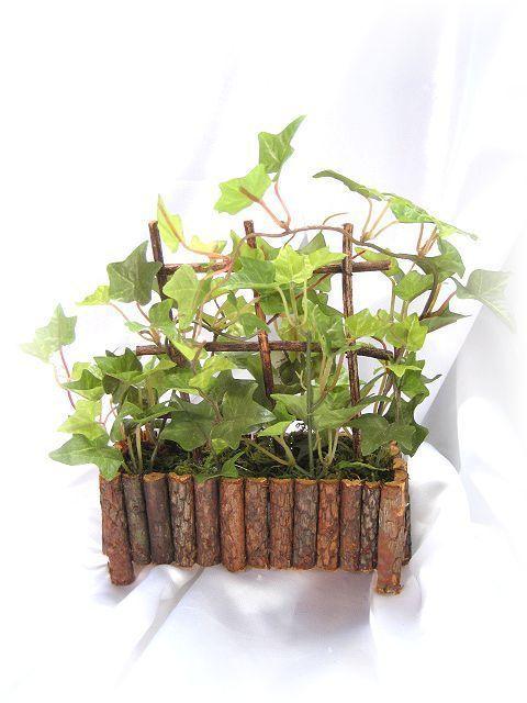 【造花 観葉植物】アイビーのミニガーデン