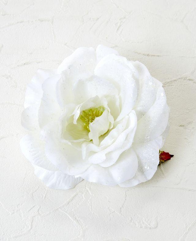 コサージュ&髪飾り(両用タイプ)(パールローズ/ホワイト)