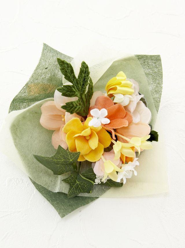 【造花ミニ花束】手のひらブーケ121
