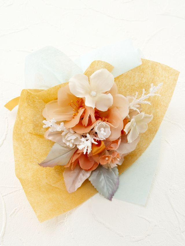 【造花ミニ花束】手のひらブーケ125