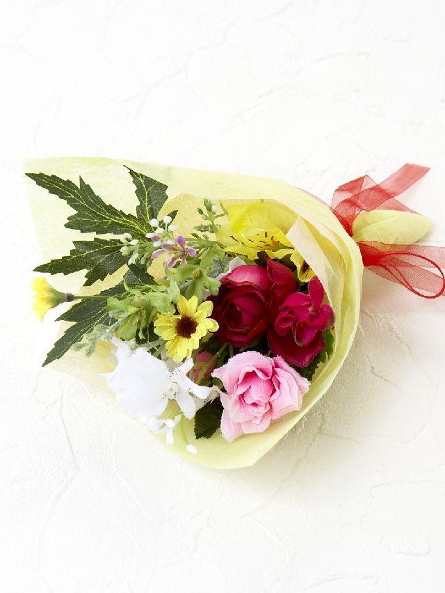 【造花ミニ花束】手のひらブーケ197