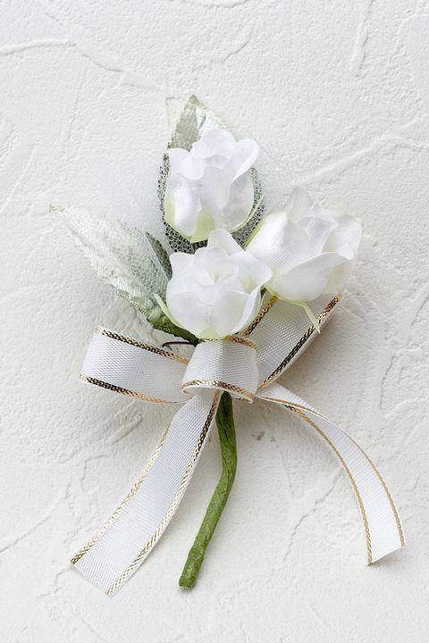 ミニバラのミニコサージュ(ホワイト)