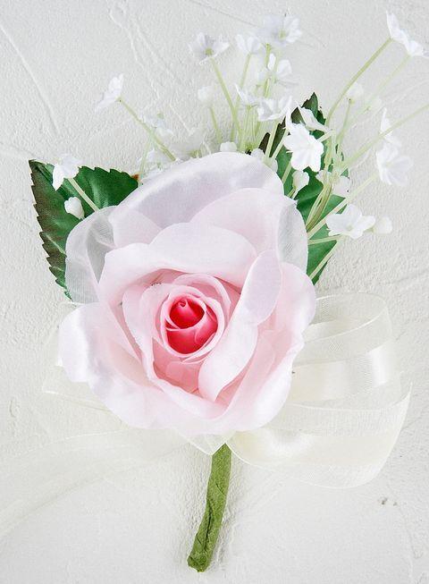 プリンセスローズ&かすみ草のコサージュ(ピンク)