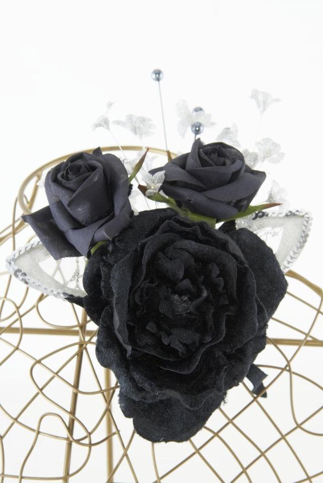 【10周年記念特別SALE価格】フォーマルコサージュB-ブラック