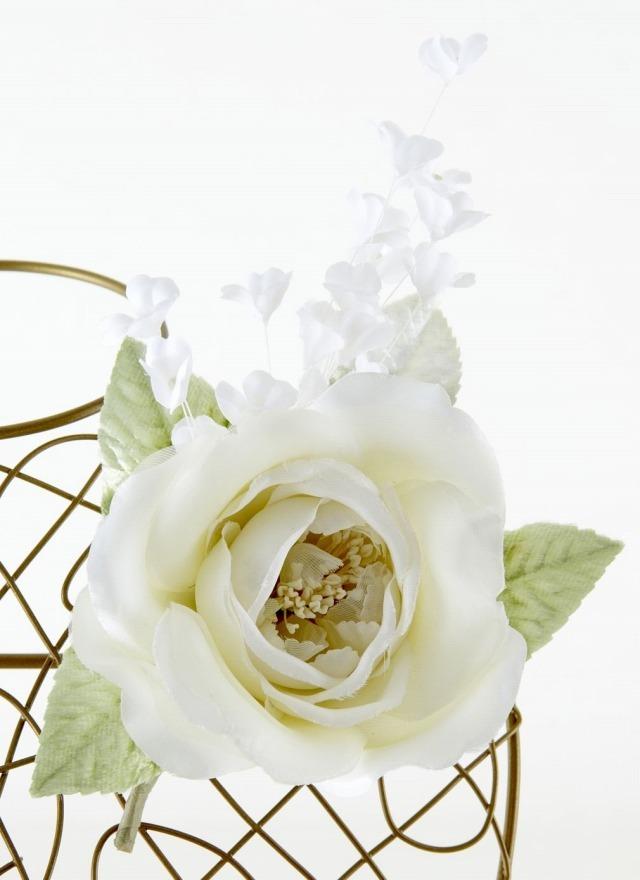 【10周年記念特別SALE価格】フォーマルコサージュH-ホワイト