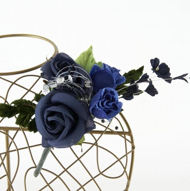 【10周年記念特別SALE価格】フォーマルコサージュX-ブルー
