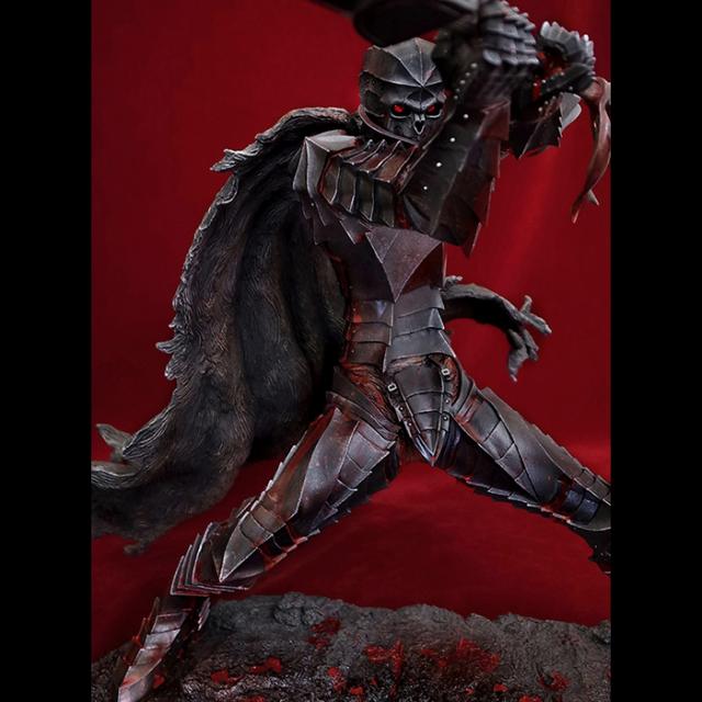 【流血塗装】 「狂戦士」 Armored Berserk Skull Helmet Version レッドクリスタルアイパーツ付き※締切