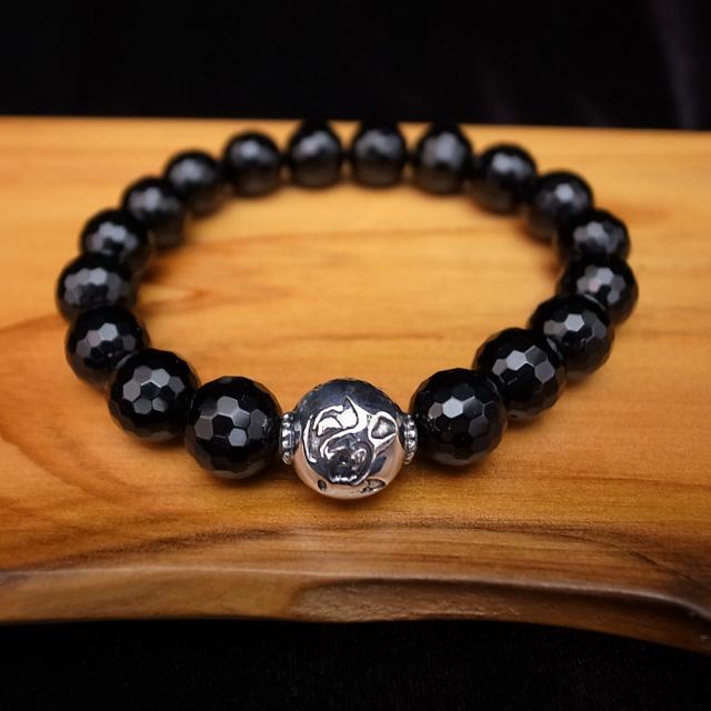 サムライアニマルズ 天然石ブレスレット ブラックオニキス