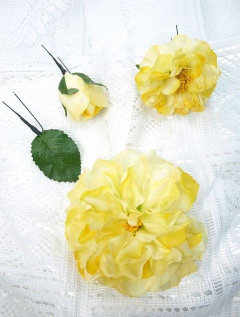 コサージュ&髪飾り(両用タイプ)(キャンディーローズ/イエロー)