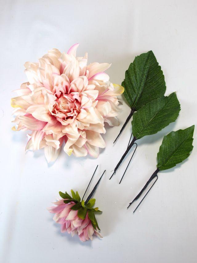 コサージュ&髪飾り(両用タイプ)(ラファエルダリア/ピンク)