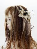 【特価SALE 髪飾り・ヘアアクセサリー】和洋両用−ゴールドブラック・コーム