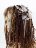 【特価SALE 髪飾り・ヘアアクセサリー】和洋両用−シルバーブラウン・コーム
