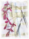 S-1013 和装髪飾り<藤>Uピン2本セット(9A08)/薔薇−ワイン系