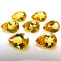 天然石ルース(裸石)・ゴールデンシトリン(非加熱・ブラジル産)/ペアシェイプ【9×6mm】ファセットカット(1個)