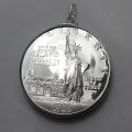 アメリカ自由の女神像銀貨 (1ドル)コインペンダント・バチカン付「SV925」(1個)