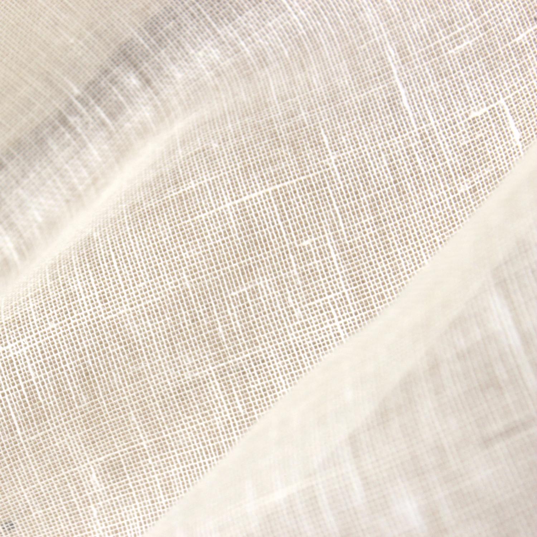 【3月31日ころ出荷予定・生地耳付き】ヘンプ/リネン 平織(蚊帳、ガーゼ)生地 オフ白  <織り立て・未洗い> ※生地幅125cm