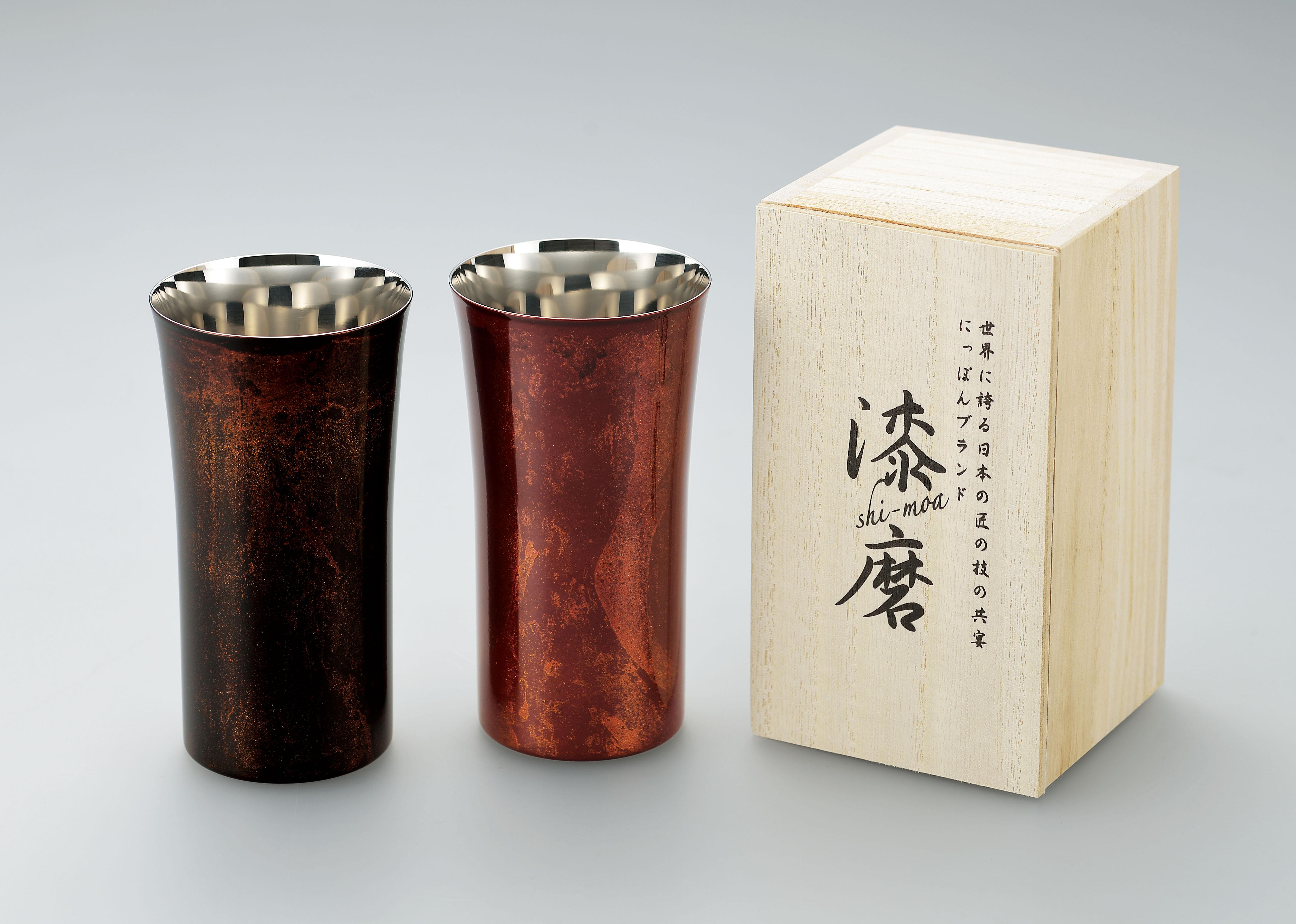 【日本製】 漆磨(シーマ) 本漆塗りシングルカップ Sサイズ 1客(赤/黒)