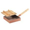 【匠のこだわり】食楽工房 本職用玉子焼き 18cm 木蓋付