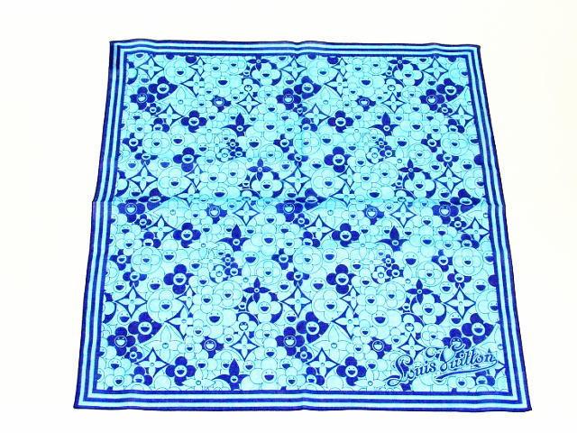 ルイヴィトン バンダナコスミックブラッサム ブルー M72593