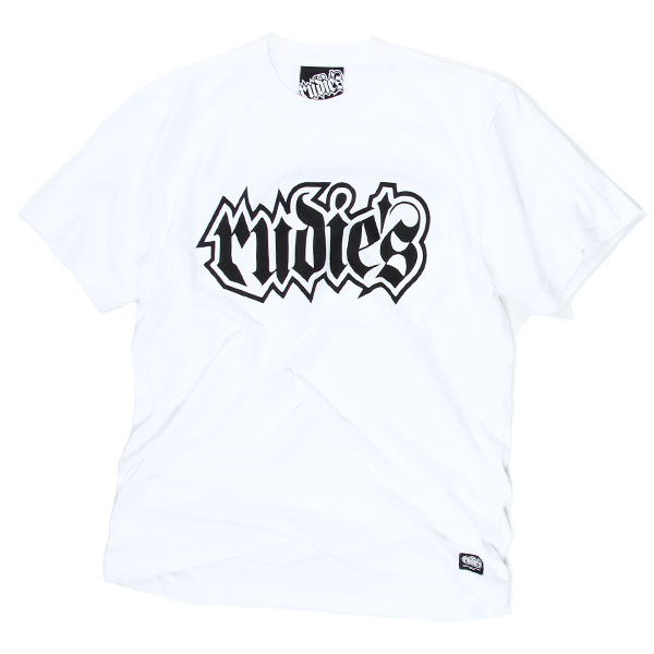 【RUDIE'S】 Tシャツ 白/黒 SPARK-Tee White/Black ルーディーズ
