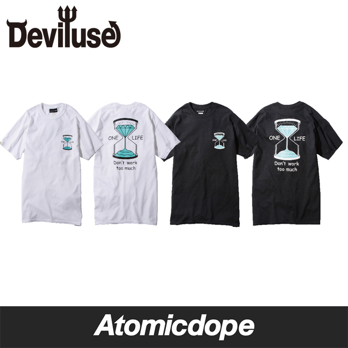 Deviluse One Life Tシャツ 黒 白 T-Shirts Black White デビルユース