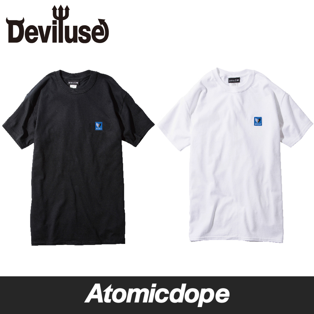 Deviluse Seeking Mate Embroider Tシャツ 黒 白 T-Shirts Black White デビルユース