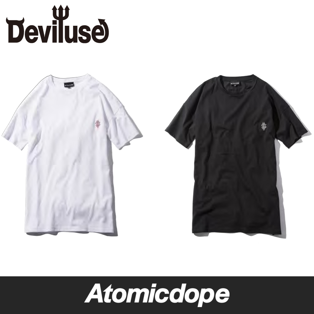 【Deviluse】DVUS Long Length T-shirt Tシャツ 半袖 黒 白 T-shirts Black White デビルユース