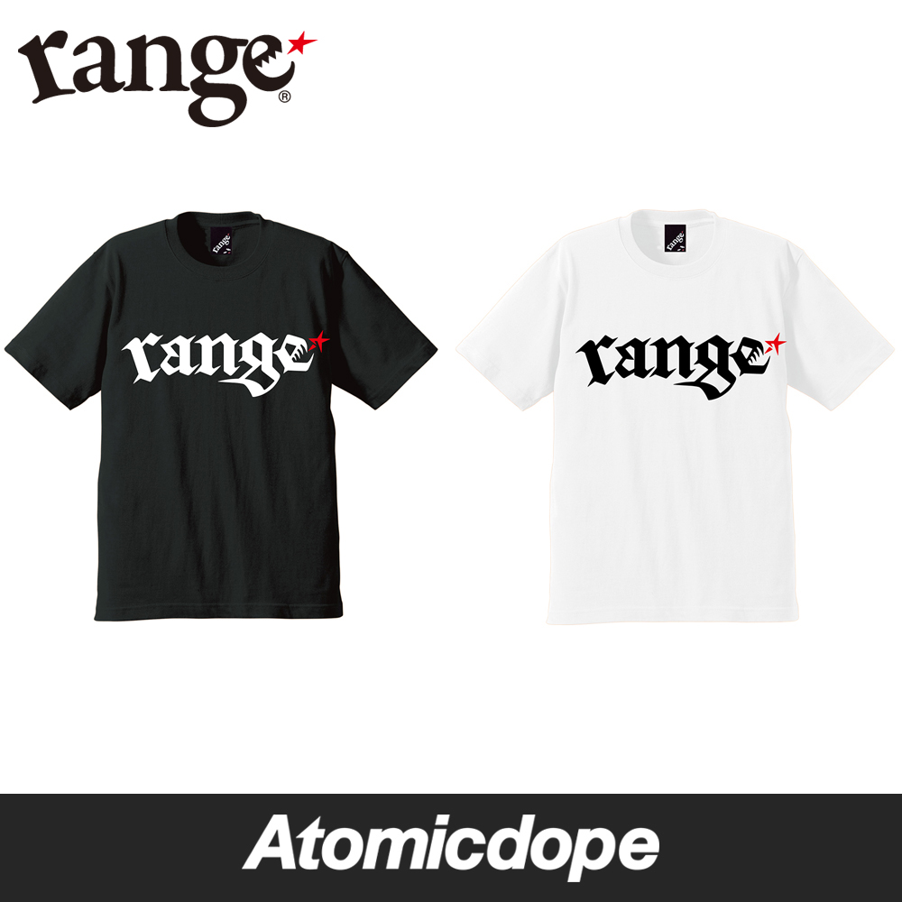 range rg tribal Tシャツ 半袖 黒 白 s/s tee Black White レンジ