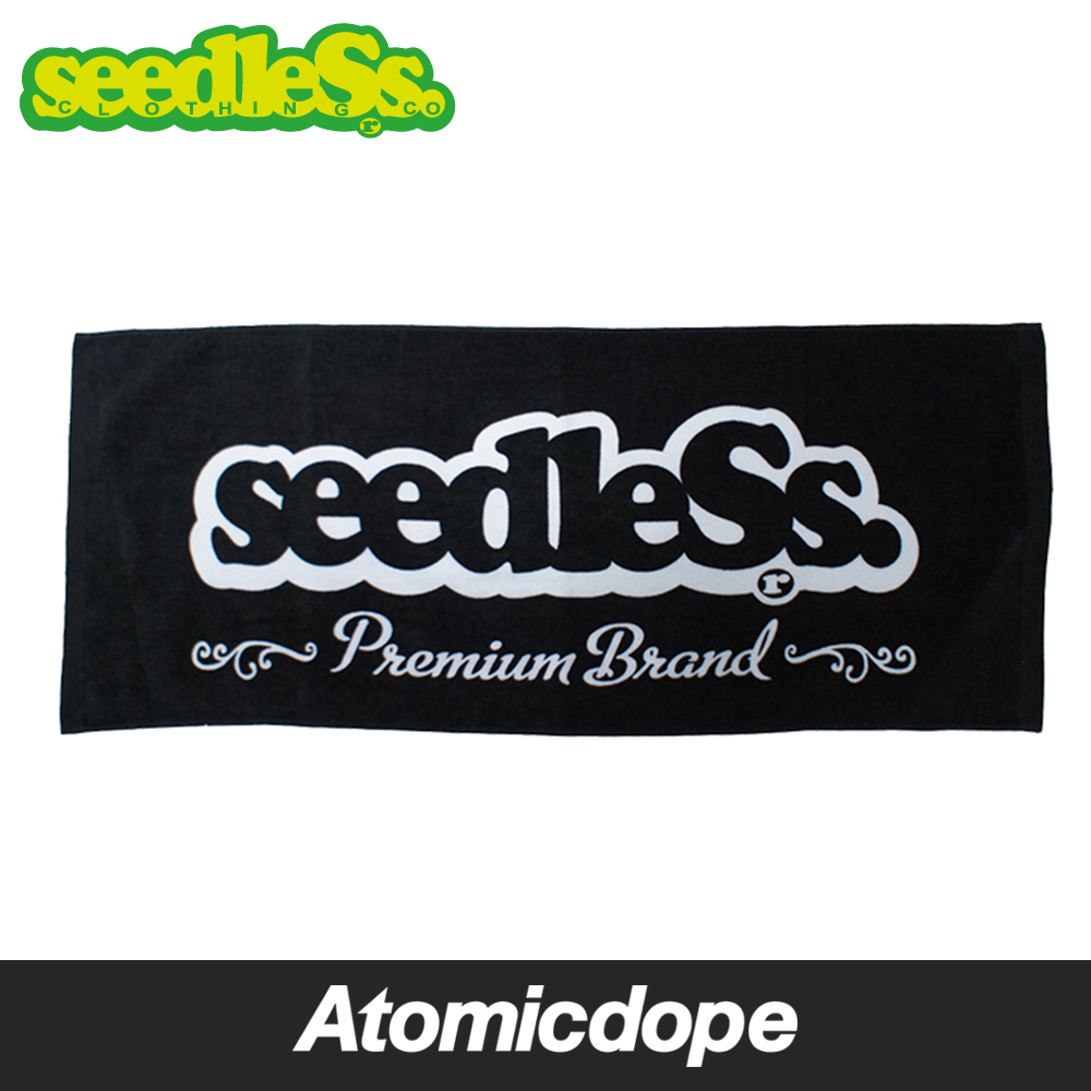 seedleSs sd premium brand タオル 黒 towel Black シードレス