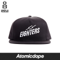 ������̵���ۡ�REBEL8��EIGHTERS ���ʥåץХå�����å� ˹�� �� SNAPBACK Black ��٥륨���� �ե꡼������