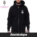 ������̵���ۡ�REBEL8 x MISHKA��GATES OF HELL ���åץѡ����� �� ZIP HOODIE Black ��٥륨���� x �ߥ���