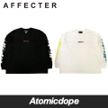 AFFECTER CHOPED ONE ビッグ ロンT ロングスリーブ Tシャツ 長袖 黒 白 L/S Tee Black White アフェクター