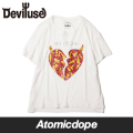 ��Deviluse��Ladies Bling Heart ��ǥ����� �����륺 T����� T-shirts Ⱦµ �� �ǥӥ�桼�� ������M