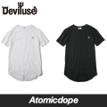 ��Deviluse��Spear ��󥰥�󥰥� T����� Ⱦµ ��Ĺ �� �� Long T-shirts Black White �ǥӥ�桼��