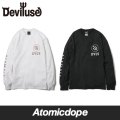 ��Deviluse��DVUS ���T ŵ �� �� Long Sleeve T-shirts Black White �ǥӥ�桼��