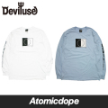 【Deviluse】Dual nature ロンT 長袖 白 水色 Long Sleeve T-shirts White Light Blue デビルユース