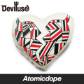 【Deviluse】Geometry Heart クッション 白 ナチュラル Cushion Mini White Natural デビルユース