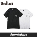 ��Deviluse��Satanism �ݥ��å� T����� Ⱦµ �� �� Pocket T-shirts Black White �ǥӥ�桼��